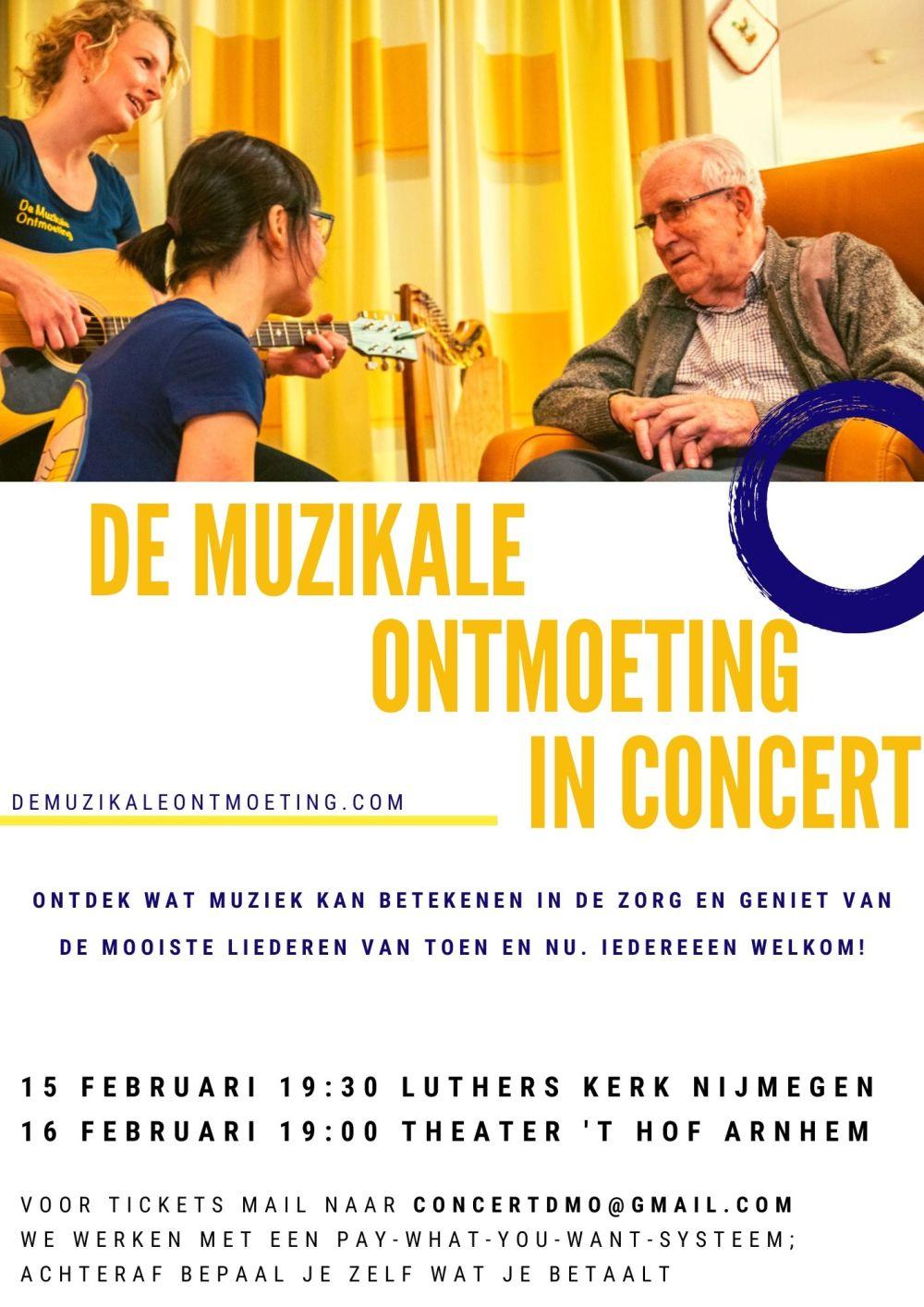 de muzikale ontmoeting in concert - poster algemeen afbeelding